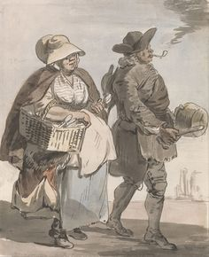 """c. 1759 - Paul Sandby - London Cries- """"Do You Want any Spoons..."""""""