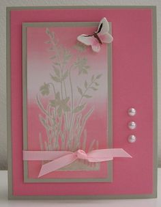 Stamping with Loll: Believing in Pink - description of technique included.