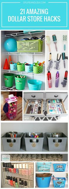 Repin and share! You'll love these DIY dollar store organizing ideas!