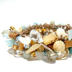 Beach Sea Shell Cuff Bracelet by Lapis Beach