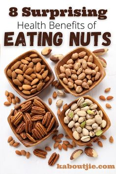 Nuts are nutrient-dense foods that come with unsaturated fats and bioactive compounds. Here are the health benefits of eating nuts. #Nuts #Health #HealthBenefitsNuts #Almonds #PecanNuts #CashewNuts #Walnuts