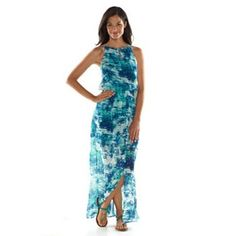 daisy fuentes® Print Maxi Dress - Women's