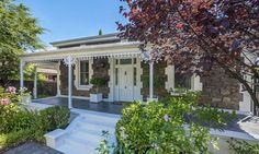 This bluestone villa has ten main rooms, electric gates, solar panels, NBN-ready internet cable and a swimming pool. Stone Exterior Houses, Stone Houses, Old Apartments, Interior Garden, Australian Homes, Home Reno, Victorian Homes, Facade, Beautiful Homes