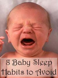 8 baby sleep habits to avoid