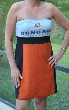 Cincinnatti Bengals NFL football gray orange black by twochixremix, $29.99
