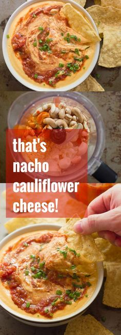 Yup, that's cauliflower cheese! Specifically, that's nacho cauliflower cheese that's totally vegan and actually healthy. Feel free to face plant. No regrets!