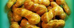 Greek Cookies, Recipe Boards, Greek Recipes, Pretzel Bites, Potatoes, Bread, Vegetables, Food, Pasta