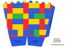 X2. Caja popcorn Lego.
