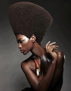 """Nefertiti""; model Naoumie Ekiko, Cameroon native currently living in the States 
