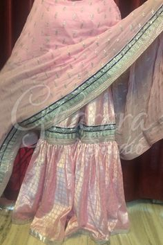 Brocade Gharara in baby pink colour with silver laces and booty on dupatta.  WhatsApp to place order at +919971865919 Deliver Worldwide  #gharara #gharastudio #ghararastudiobyshazia #ghararas #ghararah #ghararalove #ghararadesigner #ghararadesign #ghararalove #bridalgharara #partygharara #chiffongharara #buyghararaonline #orderonlinegharara #ghararaorder #ghararagirl #delhi #onlinestore #ghararaonlinestore #deliverworldwide #stitchedgharara #brocadegharara