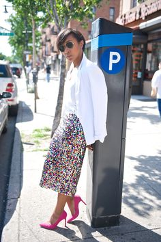 White + Sequins! #ChevyChic http://www.essence.com/essence-street-style-contest