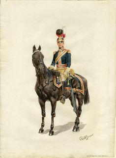 British; Royal Horse Guards, Officer, 1815 by Reginald Augustus Wymer