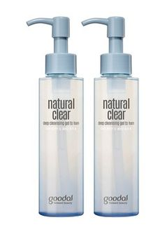 Natural Clear Deep Cleansing Gel to Foam 2-Piece Set