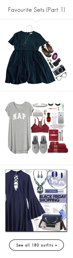 """""""Favourite Sets (Part 1)"""" by leah1992 ❤ liked on Polyvore featuring Balenciaga, Wallis, Hot Topic, STELLA McCARTNEY, Aéropostale, Gap, Minnie Rose, Calvin Klein, 3LAB and Ilia"""