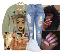 """Brat "" by whatevas ❤ liked on Polyvore featuring NIKE, Michael Kors and JanitaLuckett"