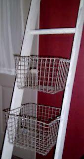 basket ladder  - storage or display