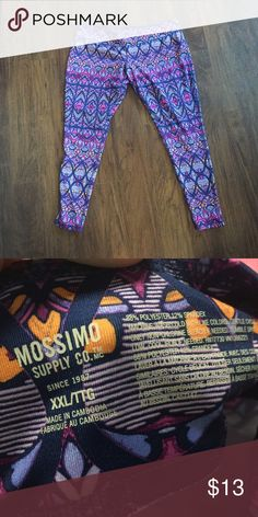 Mossimo Athletic Leggings Adorable and well made athletic leggings by mossimo. Selling due to lack of athletic activity.... Lol Mossimo Supply Co Pants Leggings