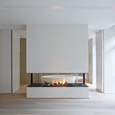 See through fireplace …