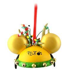Disney Parks Reindeer Pluto Mickey Ear Hat Ornament Limited Edition Christmas | eBay
