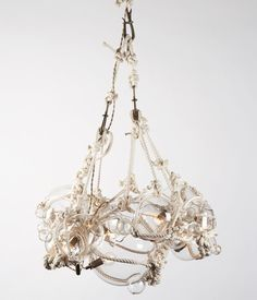 "The ""Knotty Bubble"" chandelier by Roll & Hill, designed by Lindsey Adelman"