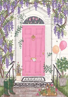 home illustration Rachel Corcoran Illus - Buch Design, House Illustration, New Wall, Aesthetic Art, Wall Collage, Cute Art, Art Inspo, Watercolor Art, Art Drawings