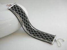 Bracelet fait main perles de rocaille Miyuki noir et argenté   Bijoux, montres, Bijoux fantaisie, Bracelets   eBay!