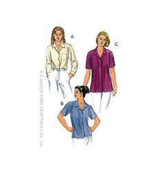 Blouses - need a good camp shirt pattern, might try this