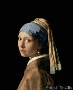 Jan Vermeer van Delft - Das Mädchen mit dem Perlenohrring, c.1665-6