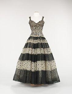 Evening Dress, Cristobal Balenciaga French ca. 1945.....anything Balenciaga