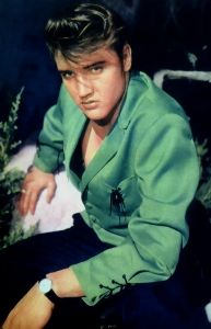 Elvis 1950s Fashion Green Jacket