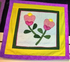 Another lovely Stitcher's Garden Block---quilt teaches you how to use your sewing machine feet!