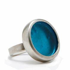 Smart Glass Cocktail Ring ( Aqua )