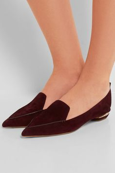 Nicholas Kirkwood - Beya Suede Point-toe Flats - Plum - IT40.5