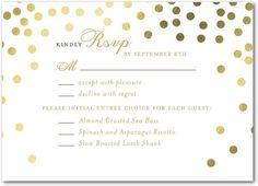 Diamond Sky - Signature Foil Wedding Response Cards - Petite Alma - Black : Front