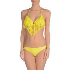 David Bikini (€24) ❤ liked on Polyvore featuring swimwear, bikinis, yellow, bikini swim wear, yellow swimwear, yellow bikini swimwear, fringe swimwear and yellow bikini