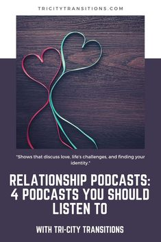 """We're big fans of podcasts, and so in this article we're recommending some shows that discuss love, life's challenges, and finding your identity. Tri Cities, Life Challenges, Identity, Finding Yourself, Fans, Relationship, This Or That Questions, Big, Personal Identity"