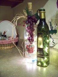 Garrafas de azeite para decoração...