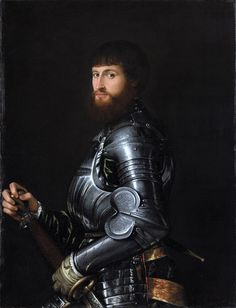 Portrait of a Nobleman in Armour, anonymous, 1540 - 1560. Rijksmuseum, Amsterdam.
