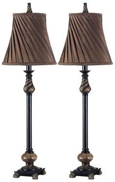 Aruba Buffet Lamps - Traditional and adorned in classical details, these buffet lamp sets bring ornate beauty to the serving table or bed stand. With two lamps to a set, these cost conscious accessories are an amazing value. Decorative Lamp Shades, Buffet Table Lamps, Cool Floor Lamps, Lamp Sets, Bedside Lamp, Light Fixtures, Home, Bed Stand, Serving Table