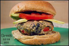 greek black bean burgers 1 Greek Black Bean Burgers