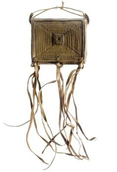 Very early--collected in 1830s/40s from Nigeria. Bag to hold the Koran. Probably Hausa, but seems to have been collected at Warri along the coast.  National Museum of Scotland, Edinburgh