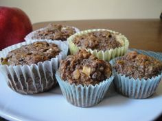 Grain Free Gluten Free Apple Flax Muffins Recipe | Kitchen Stewardship | A Baby Steps Approach to Balanced Nutrition