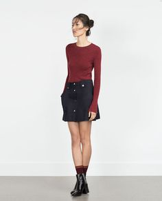 Image 1 of FLARED SKIRT WITH FRONT BUTTONS from Zara