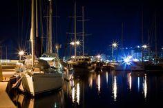 Rethymno Harbor by night. https://www.facebook.com/SentidoAegeanPearl/photos/pcb.900533593321305/900533243321340/?type=1