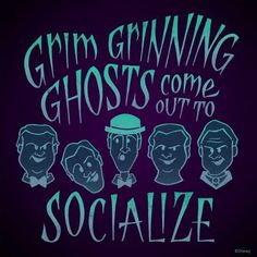 """Disney Parks - """"When the Crypt Doors Creak, and the Tombstones quake, spooks come out for a singing wake. Disney Rides, Disney Love, Disney Magic, Disney Parks, Disney Stuff, Dark Disney, Disney Pixar, Disney Characters, Disney Posters"""
