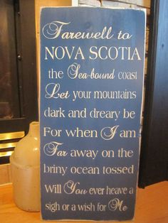 Items similar to Farewell To Nova Scotia Primitive Rustic Country Canadian Sign on Etsy I Want, Lunenburg Nova Scotia, Atlantic Canada, Canada Eh, Cape Breton, Prince Edward Island, New Brunswick, Canada Travel, Signs