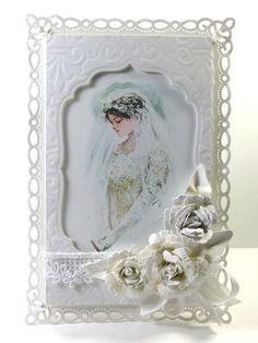 Beautiful bride wedding shower card