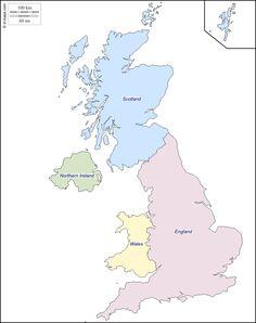 United Kingdom Outline Map Christmas Crafts Pinterest England