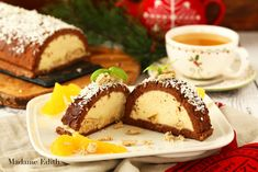 ciasto chałwowe Swiss Roll Cakes, Lemon Loaf, Brownie Cake, Brownies, Polish Recipes, Pastry Cake, World Recipes, Bruschetta, Biscuits