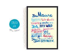 Digitaldruck - *Hausordnung* - ein Designerstück von Frau-Ottilie bei DaWanda